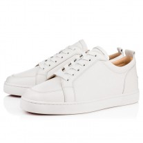 Christian Louboutin Rantulow Flat Low Tops Latte Leather Shoes