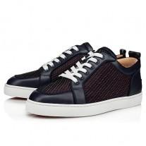 Christian Louboutin Rantulow Orlato Low Tops OPERA/BLUE RAFIA Shoes