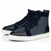Christian Louboutin Rantus Orlato High Tops Version Blue Mesh Shoes