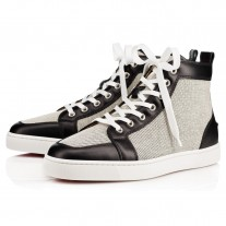 Christian Louboutin Rantus High Tops Black/Black Leather/Granariso Shoes