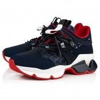 Christian Louboutin Red-Runner Men Runners Version Marine Neoprene Shoes