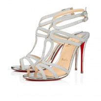Christian Louboutin Renee Sandals SILVER GLITTER Shoes
