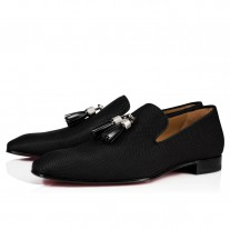 Christian Louboutin Rivalion Loafers Black Nylon Shoes