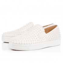 Christian Louboutin Roller-Boat Low Tops White/White Leather Shoes