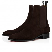 Christian Louboutin Samson Orlato Ankle Boots Brun Leather Shoes