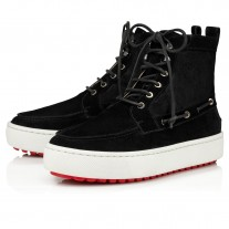 Christian Louboutin Torontoto Ankle Boots BLACK Leather Shoes