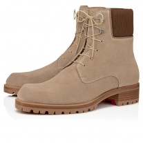 Christian Louboutin Trapman Ankle Boots MANDORLA CALF Shoes