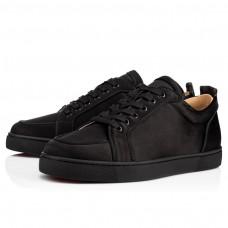 Christian Louboutin Rantulow Orlato Low Tops Black Satin Shoes