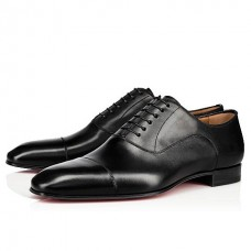 Christian Louboutin Greggo Oxfords Black Leather Shoes