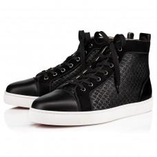 Christian Louboutin Louis Orlato High Tops Black Jacquard Scallops Shoes