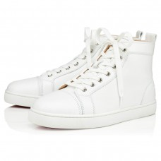 Christian Louboutin Louis High Tops White Leather Shoes