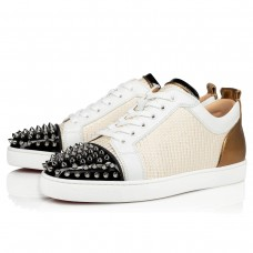 Christian Louboutin Louis Junior Spikes Orlato Low Tops Version Multi Cotton Shoes
