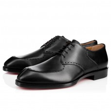 Christian Louboutin A Mon Homme red Bottoms Black Leather Shoes