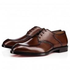Christian Louboutin A Mon Homme Derby Havane Leather Shoes