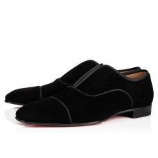 Christian Louboutin Alpha Male Oxfords Black Suede Shoes