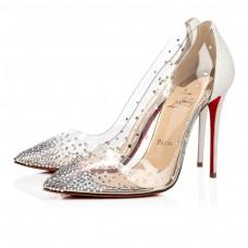 Christian Louboutin Degrastrass red Bottoms Version White PVC Shoes