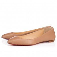 Christian Louboutin Eloise red Bottoms Nude Leather Shoes