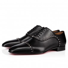 Christian Louboutin Eton Oxfords Black Leather Shoes