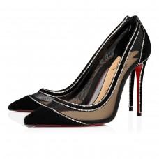 Christian Louboutin Galativi Strass Evening BLACK VEAU VELOURS Shoes