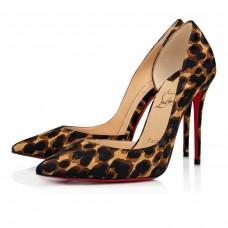 Christian Louboutin Iriza red Bottoms BROWN SILK Shoes