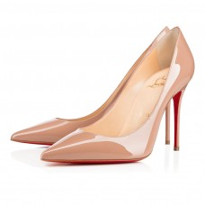 Christian Louboutin Kate pumps Nude Patent Leather Shoes
