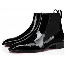 Christian Louboutin Marmada Red Bottoms Black / Patent Leather Shoes