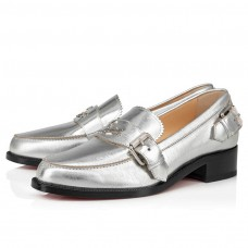 Christian Louboutin Monmoc Donna red Bottoms Silver Specchio Brosse Shoes