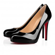 Christian Louboutin New Simple Pump red Bottoms Black Patent Leather Shoes