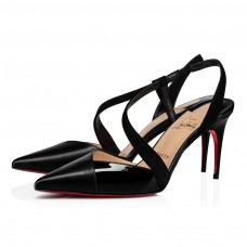 Christian Louboutin Platina red Bottoms Black Leather Shoes