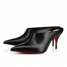 Christian Louboutin Quart red Bottoms Black Silver Leather Shoes