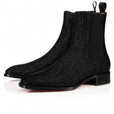 Christian Louboutin Samson Orlato Ankle Boots Black Crosta Shower Shoes