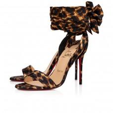 Christian Louboutin Du Desert sandals Marron Soie Leo Shoes