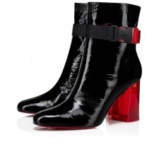 Christian Louboutin Telesiege red Bottoms Black Patent Vogue Shoes