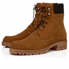 Christian Louboutin Trapman Ankle Boots Terra Leather Shoes